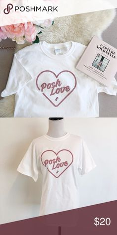 Posh Love Tee Want to wear #PoshLove on your sleeve? This soft and lightweight tee is the perfect addition to your closet.  NWOT Poshmark Tops Tees - Short Sleeve