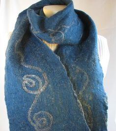 Wet and needled felted scarf Demaliacreations@gmail.com