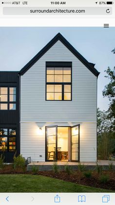 Modern Black And White Exterior Siding And Fascia