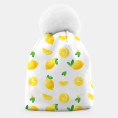 Bittersweet Mellow Bright Yellow Lemon Beanie, Live Heroes Cute Beanies, Unique Image, Bright Yellow, Coin Purse, Lemon, Stylish, Live, Purse