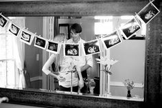 love the ultrasound garland. great idea for baby shower!