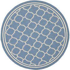 Safavieh Courtyard Blue / Beige Rug