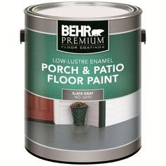 PREMIUM PLUS Interior/Exterior Porch U0026 Floor Paint   Low Lustre Enamel,  Slate