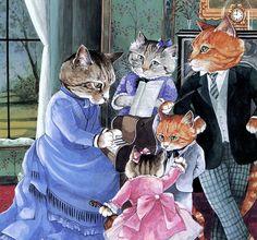 Victorian Cats Susan Herbert  Antique / by HeatherwoodArtPrints, $9.50
