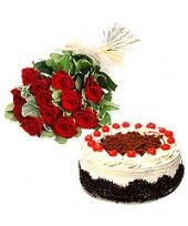The exclusive pack of 12 red rose bunch and a Black Forest cake from the family of FlowerzNCakez can act as the best token to appreciate your productive trade relations. Romantic Valentines Day Ideas, Unique Valentines Day Gifts, Large Flowers, Buy Flowers, Black Forest Cake, Cake Online, Red Roses, Best Gifts, Fruits Online