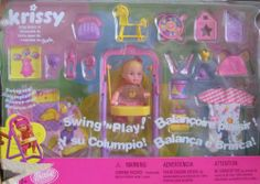 Barbie KRISSY Swing 'n Play Doll Set (2001 Multi-Lingual Box From Canada) by Mattel. $73.95