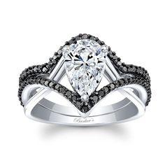 Ring Set, Ring Verlobung, Unique Rings, Beautiful Rings, Black Diamond Wedding Sets, Moissanite Bridal Sets, Wedding Ring Styles, Wedding Bands, Wedding Ideas
