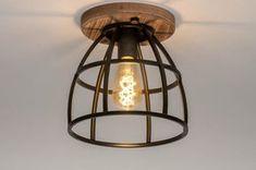 Ceiling light industrial, look, rural, rustic # 0 - Interior Design Kitchen, Interior Design Living Room, Living Room Decor, Bedroom Decor, Chandelier, Ceiling Lights, Rustic, House Styles, Lighting