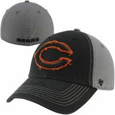 '47 Brand Chicago Bears Plasma Franchise Fitted Hat - Black/Charcoal