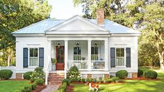 "Our New Favorite 800-Square-Foot Cottage That You Can Have Too | How to you maximize space while creating a traditional Southern home? We've got the answers here. When Atlanta architect Brandon Ingram was tasked with designing a small cottage 30 minutes outside Tallahassee, Florida, he knew it needed to be two things: ""extremely efficient and super Southern."" Extremely efficient because this is the second building on the property and county laws mandated that it be no more than 800 square…"