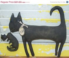 ON SALE Primitive Cat Bullet by Rabbithollowprims on Etsy, $18.66