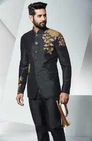 Image result for black jodhpuri suits for men