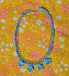 Anchor Freccia Colorful World Crochet Necklace Tutorial | Chiaki Creates chiakicreates.com