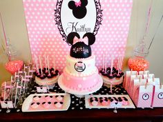Minnie Mouse dessert table #minniemouse #desserttable