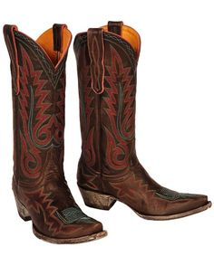 Women's Nevada Boot - Chocolate/Purple. Old Gringo Cowgirl Boots