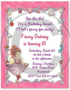 Fancy Nancy Invitations