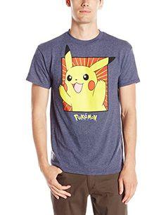 423e15689f957 Pokemon Men's Boxed Pikachu T-Shirt, Navy Heather, Medium – Pokemon Tshirt  for Men
