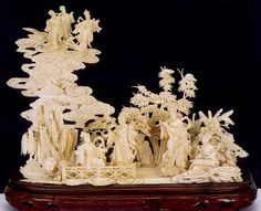 CHINESE IVORY CARVING | 0503-0820 H. BALLHEIM (German, active 1850-1880) Oil on canvas Madonna ...