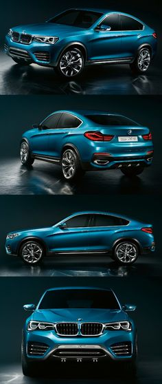 ♂ Blue car New BMW Concept X4 2013 col offers a preview of the future