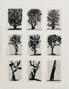 William Kentridge Hon RA's NINE TREES (FROM UNIVERSAL ARCHIVE) at the RA Summer Exhibition 2015