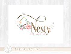 Photography Logo Design Doula Logo Nest logo Bird Logo Boutique Logo Watercolor Logo Decor Logo Design Watermark