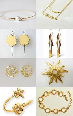 "If you're looking for elegant gold jewelry, you cannot miss this Etsy treasury, ""jewelry"" by Matylda Mika"