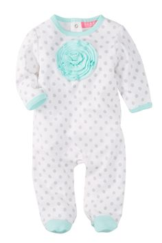 Polka Dot Footed Coverall