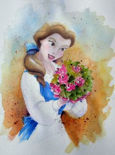 The Art of Andy Fling | Belle from Beauty and the Beast | Watercolor