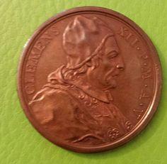 Clemente XII medaglia bronzo per la diversione dei fiumi Ronco e Montone 1735  recto - Raccolta personale.
