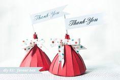 Enfeite de mesa - Caixinha de agradecimento