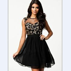 Women's Lace Micro-elastic Sleeveless Above Knee Dress ( Sequin/Chiffon/Lace )(2235320) – USD $ 16.79