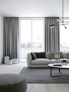 Creative ways beautiful classy living room design and decor ideas 18 – fugar Living Room Decor Curtains, Blue Bedroom Decor, Home Curtains, Decorative Curtains, Modern Living Room Curtains, Grey Curtains, Floor To Ceiling Curtains, Apartment Curtains, Bedroom Ceiling
