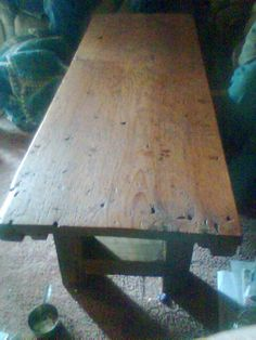 Another table from our barn wood. thanks for sharing Kelly