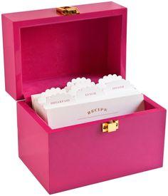 Gorgeous recipe box