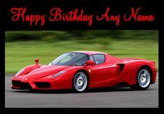 ferrari happy birthday card to write on - Google Search