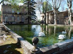 Chateau de Sauvan gardens in Alpes de Haute Provence, France