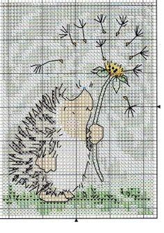 Cross Stitch Hedgehog Margaret Sherry Hedgehog2 *shares Margaret Sherry KEY CHART