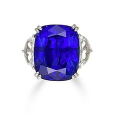 An important 22.98 carat sapphire and diamond ring