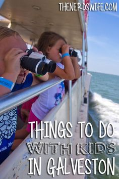 There are tons of Things To Do in Galveston With Kids -- we had the chance to stay a few days after our cruise and had so much fun! Galveston Texas, Galveston Island, Texas Travel, Travel Usa, Family Road Trips, Family Travel, Texas Vacations, Family Vacations, Dolphin Tours