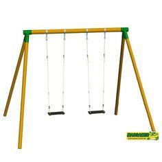 COLUMPIO DE MADERA DOBLE PARA EXTERIOR FUJI, SIRVE PARA ADULTOS. MA700050, IndalChess.com Tienda de juguetes online y juegos de jardin