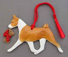Basenji Dog Breed Ornament Christmas Gift Idea at For Love of a Dog