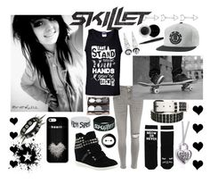 """""""Skillet <3"""" by dolphinloverd ❤ liked on Polyvore featuring Mary Kay, River Island, ALDO, Nude by Nature, Monki and Disney"""