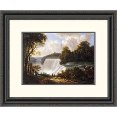 Global Gallery 'Niagara Falls Scene' by Victor DeGrailly Framed Painting Print Size: