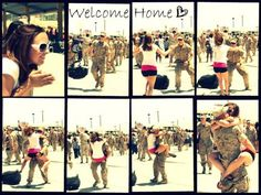 Welcome home. This is such a sweet picture.