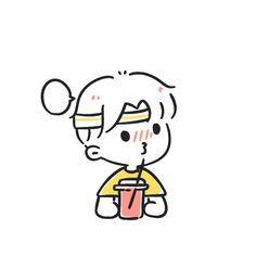 Cute Couple Cartoon, Cute Cartoon Characters, Cartoon Memes, Cute Bear Drawings, Cute Kawaii Drawings, Easy Drawings, Pencil Drawings, Doodle Cartoon, Cartoon Art