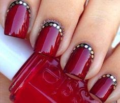 Nail Art, Nail Designs, Nail Tutorials, Holiday, Reverse French, Ruffian | NailIt! Magazine