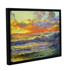 Califonia Dreaming by Michael Creese Floater Framed Painting Print on Gallery Wrapped Canvas
