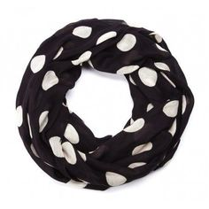 Polka dot infinity scarf, so posh