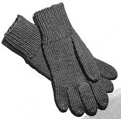 Plain Gloves Pattern #S-115