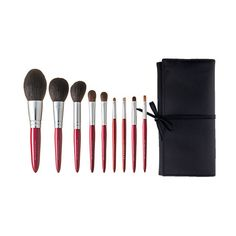 CDJapan : Red 9 Piece Brush Set / Chikuhodo Regular Series Red Collectible